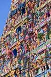 Bella vista del gopura variopinto nel Kapaleeshwarar indù Te Fotografie Stock Libere da Diritti