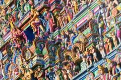 Bella vista del gopura variopinto nel Kapaleeshwarar indù Te Fotografia Stock Libera da Diritti