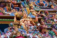 Bella vista del gopura variopinto nel Kapaleeshwarar indù Te Immagini Stock Libere da Diritti