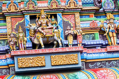 Bella vista del gopura variopinto nel Kapaleeshwarar indù Te Fotografia Stock