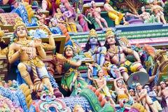 Bella vista del gopura variopinto nel Kapaleeshwarar indù Te Fotografie Stock