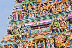 Bella vista del gopura variopinto nel Kapaleeshwarar indù Te Immagine Stock Libera da Diritti