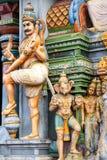 Bella vista del gopura variopinto nel tempio indù, Chennai, Fotografia Stock