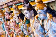 Bella vista del gopura variopinto nel tempio indù, Chennai, T Fotografie Stock