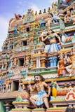 Bella vista del gopura variopinto nel tempio indù, Chennai, T Fotografia Stock Libera da Diritti