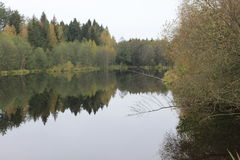 Bella vista del lago Fotografia Stock