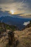 Bella vista del lago dalla montagna in alpi tedesche Fotografie Stock Libere da Diritti
