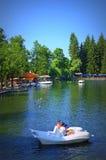 Bella vista del lago Kleptuza Immagine Stock Libera da Diritti