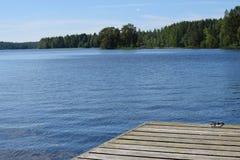 Bella vista del lago in Savonia, Finlandia immagine stock