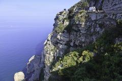Bella vista del litorale di Amalfi fotografia stock