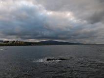 Bella vista del mare in Ahtopol fotografia stock libera da diritti