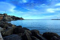 Bella vista del mare al porto Fotografie Stock Libere da Diritti