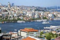 Bella vista del mare a Costantinopoli Fotografia Stock Libera da Diritti