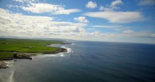 Bella vista del mare 4k video d archivio