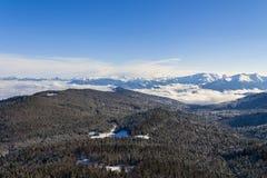 Bella vista del paesaggio di Lago-Naki Fotografia Stock