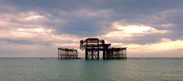 Bella vista del pilastro di Brighton immagini stock