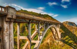 Bella vista del ponte di Bixby in Big Sur, California Fotografia Stock Libera da Diritti