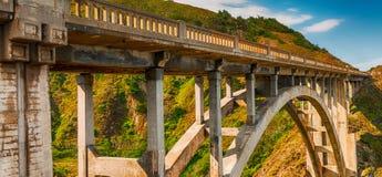 Bella vista del ponte di Bixby in Big Sur, California Fotografia Stock
