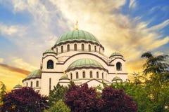 Bella vista del tempio della st Sava a Belgrado, Serbia fotografie stock