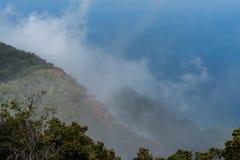 Bella vista dell'allerta di Kalalau su Kauai, Hawai Fotografia Stock