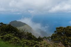 Bella vista dell'allerta di Kalalau su Kauai, Hawai Immagine Stock Libera da Diritti