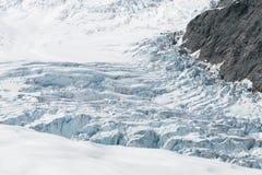 Bella vista dell'elicottero del ghiacciaio di Fox, isola del sud Nuova Zelanda della costa ovest Fotografia Stock Libera da Diritti