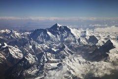 Bella vista dell'Himalaya dall'aereo Immagine Stock Libera da Diritti