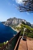 Bella vista dell'isola di Capri da punto turistico Immagine Stock Libera da Diritti