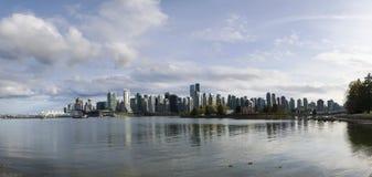 Bella vista dell'orizzonte di Vancouver Fotografia Stock Libera da Diritti