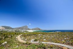Bella vista della baia di Pringle, un piccolo villaggio della spiaggia situato lungo l'itinerario 44 nella zona orientale della b Immagine Stock Libera da Diritti