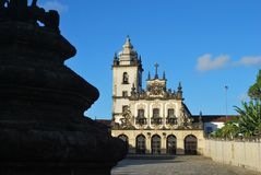 bella vista della chiesa antica del paraiba fotografia stock libera da diritti