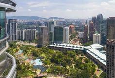 Bella vista della città al centro di Kuala Lumpur Immagini Stock Libere da Diritti