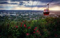 Bella vista della città di Almaty Fotografia Stock
