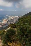 Bella vista della città di Gibilterra Fotografie Stock Libere da Diritti
