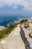Bella vista della città di Gibilterra Immagini Stock Libere da Diritti