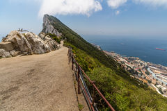 Bella vista della città di Gibilterra Fotografia Stock Libera da Diritti