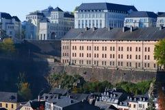 Bella vista della città di Lussemburgo Fotografie Stock