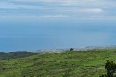 Bella vista della costa di Kohala sulla grande isola delle Hawai presa dall'più alta elevazione Fotografie Stock