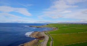 Bella vista della costa di mare 4k stock footage