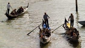 Bella vista della gondola tradizionale Fotografia Stock Libera da Diritti