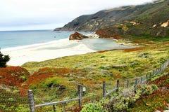 Bella vista della linea costiera da Big Sur Immagine Stock