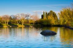 Bella vista della pietra e del lago in Sandanski Immagine Stock Libera da Diritti