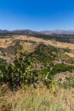 Bella vista della regione di Ronda, Spagna Immagine Stock