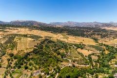Bella vista della regione di Ronda, Spagna Immagini Stock Libere da Diritti