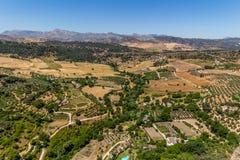 Bella vista della regione di Ronda, Spagna Fotografia Stock