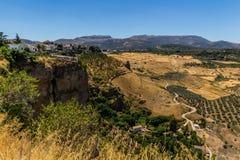 Bella vista della regione di Ronda, Spagna Immagine Stock Libera da Diritti