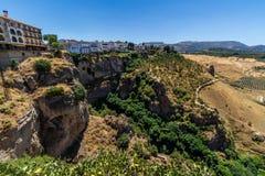 Bella vista della regione di Ronda, Spagna Fotografia Stock Libera da Diritti