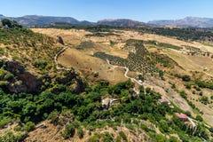 Bella vista della regione di Ronda, Spagna Fotografie Stock