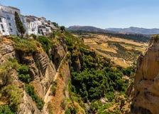 Bella vista della regione di Ronda, Spagna Immagini Stock