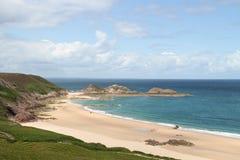 Bella vista della spiaggia del Brittany Immagine Stock Libera da Diritti